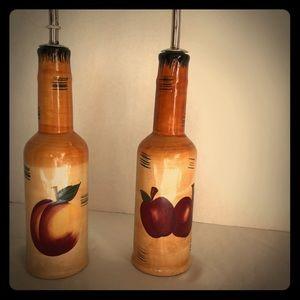 Vintage oil bottles for olive oil, veg. Oil etc...